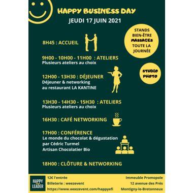Ateliers et Networking - Happy Business Day le 17 juin 2021